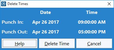 Delete Time Punches Time Clock Mts Documentation