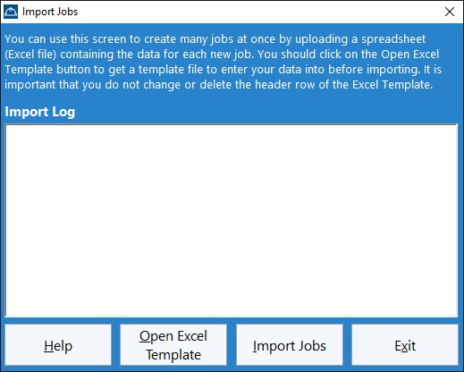 Importing Jobs From Excel Time Clock Mts Documentation