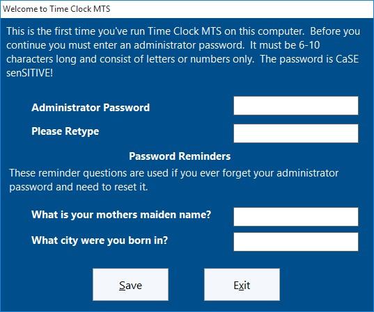 Set Administrator Password
