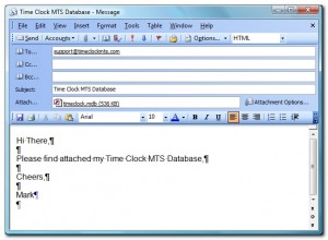 Emailing Your Time Clock MTS Data File