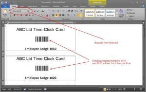 Figure 2 -Simple Employee Badge Design