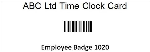 Example of a Simple Barcode Badge