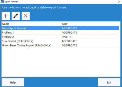 Data Export Formats