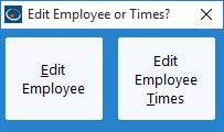 Edit Employee or Times?