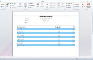 The Employee ID Report