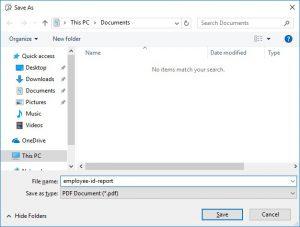 Choosing a File Name