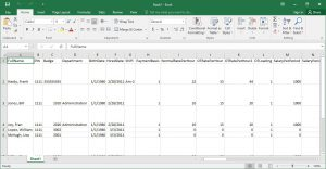 Time clock employees can be exported to MS Excel.