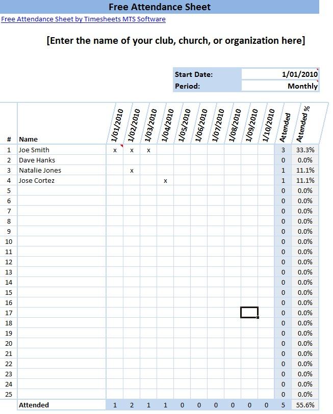 Clock Sheets Employees Employee Time Clock Template