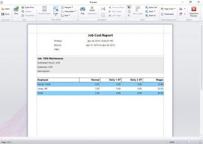 Job Costing Report