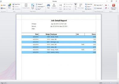 Job Details Report