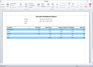 The Job Labor Breakdown Report
