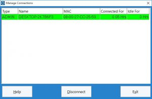 This screen is used to manage the connections to the Time Clock MTS database, useful for the multi user version of the software