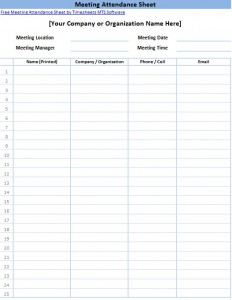 aa meeting attendance sheet