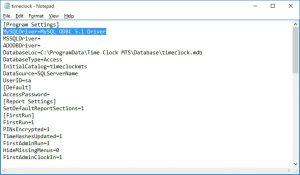 The MySQLDriver Configuration Setting