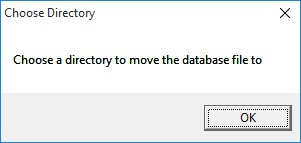 Now Select a Directory to Move it To