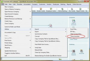 Importing Data File into QuickBooks