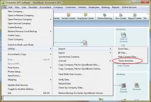 Importing Data File into QuickBooks