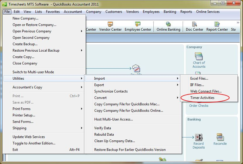 QuickBooks Payroll Data Integration - Time Clock MTS