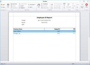 New Report Screen
