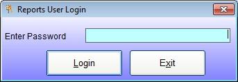 The Reports User Login Screen