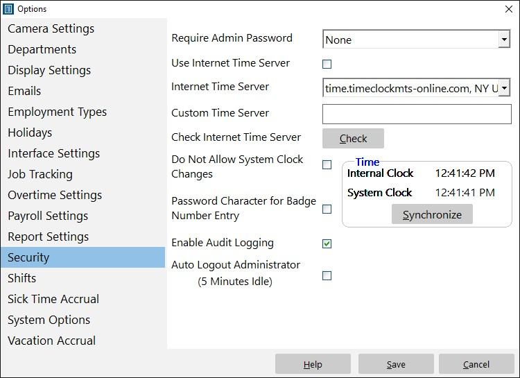 Preventing System Clock Changes