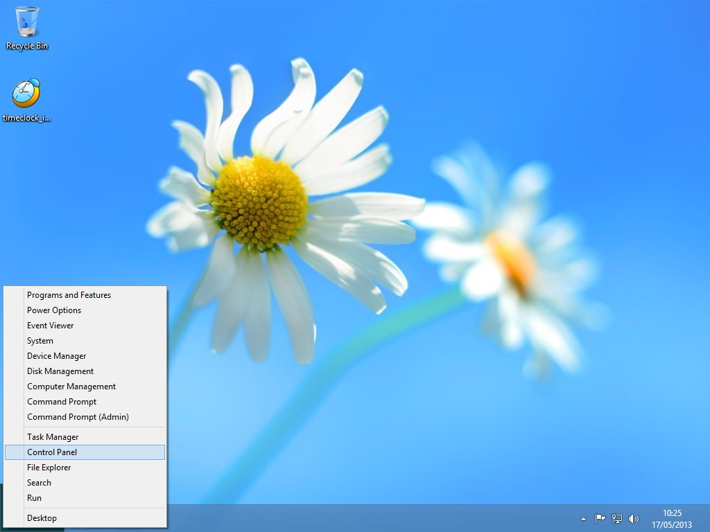 Windows 8 Lower Left Corner Mini Start Menu