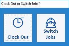 This screen is used by employees to switch jobs during the work day.