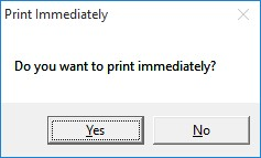 Printing Immediately