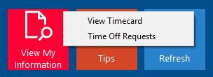 Time Off Requests Drop-Down
