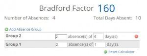 The Time Clock MTS Bradford Factor Calculator