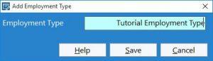 Adding an Employment Type