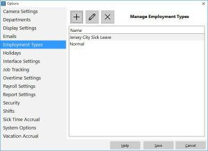 Manage Employment Types
