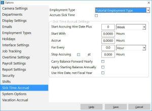 Adding a Sick Time Accrual Scheme